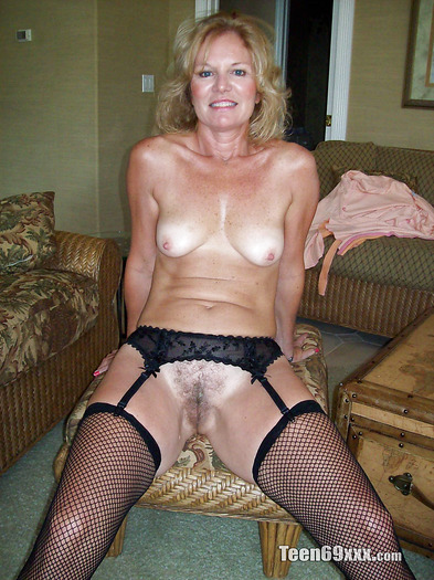 time Amateur stockings old first