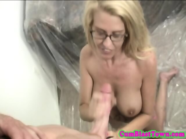 Riding titjob first time pissing