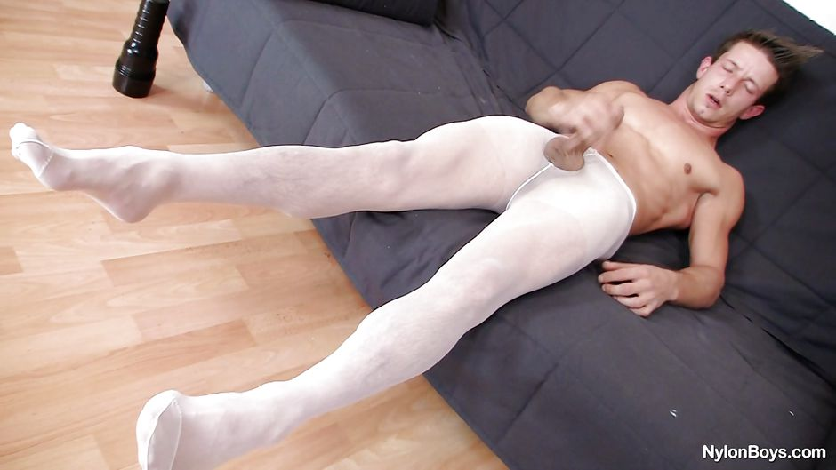 nylon subway brunette Gay