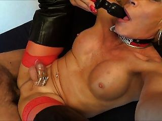 mother Double blowjob gangbang sissy