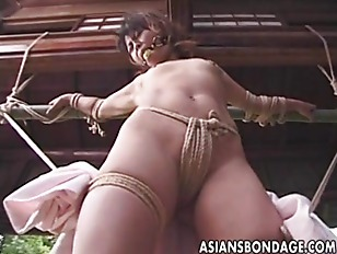 Asian bondage outdoor young
