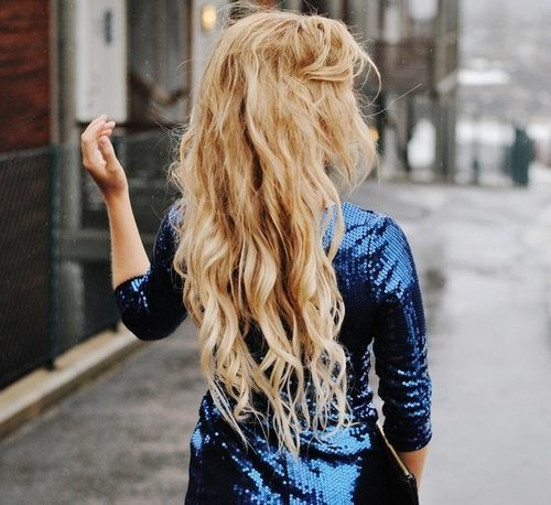 sex messy Curly blonde