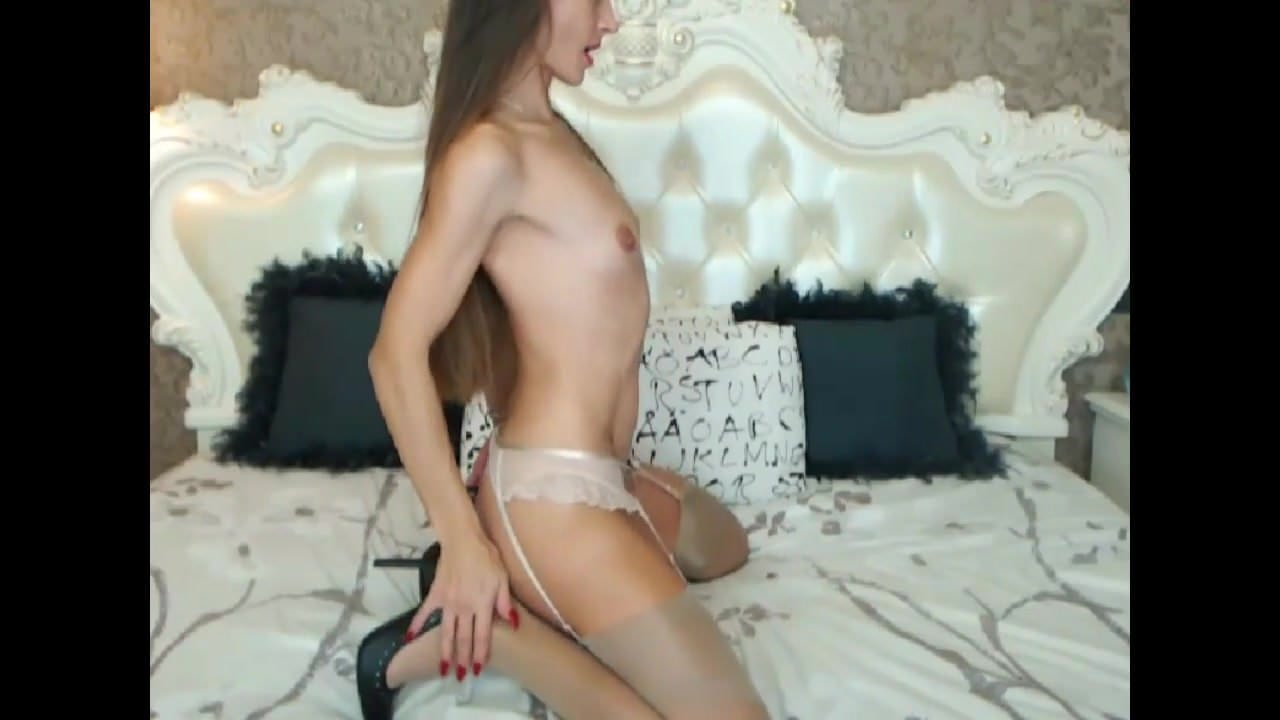 dirty long Brunette sex talk hair