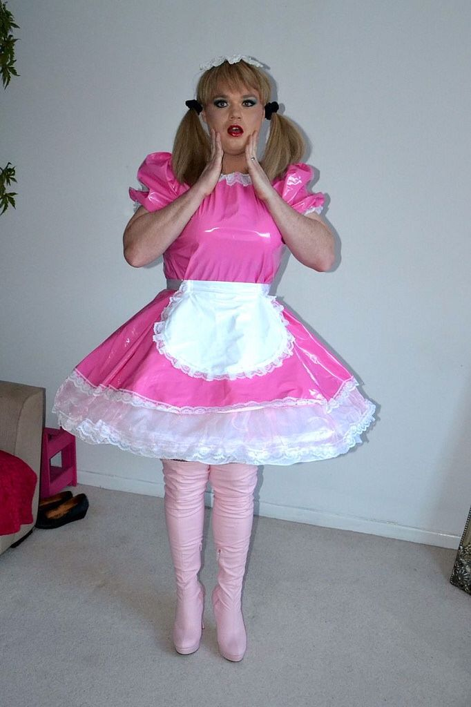 pigtails fisting Sissy latex