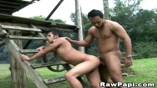 First time licking sexy outdoor