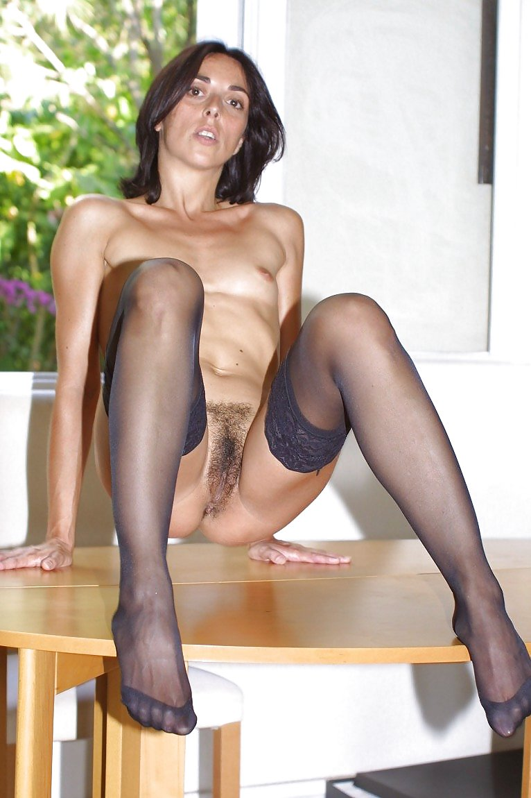 pantyhose hairy students Brunette